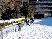 雪の日遊び